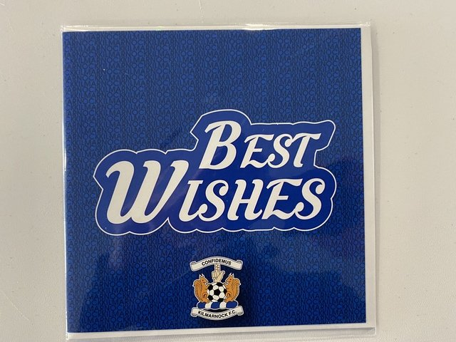 BOLD BEST WISHES CARD