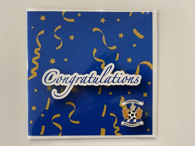 CONGRATS SMALL CREST CARD