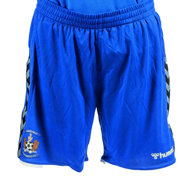 YOUTH ROYAL BLUE HUMMEL AUTHENTIC POLY SHORTS
